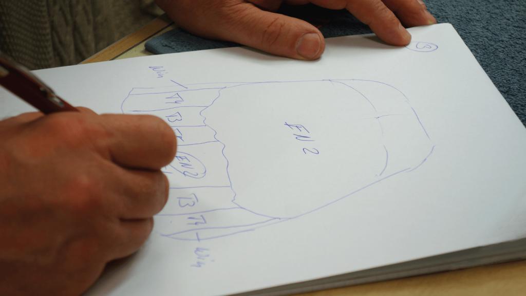 Színtérkép készítése: az adalékmasszák elhelyezkedése